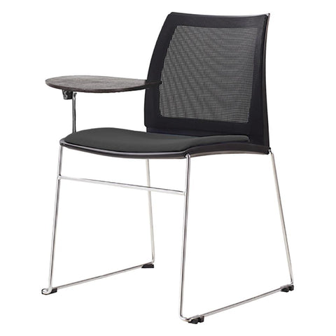 Vinn Mesh Back Training Chair with Tablet Arms