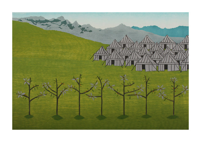 May Katie Baldwin landscape made in Philadelphia woodcut