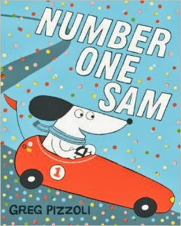 NUMBER ONE SAM book greg pizzoli for children dog racing made in Philadelphia