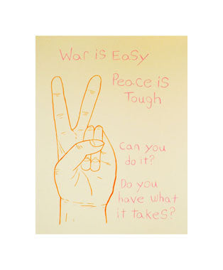 Peace Andrew Jeffrey Wright silkscreen the print center peace sign hands