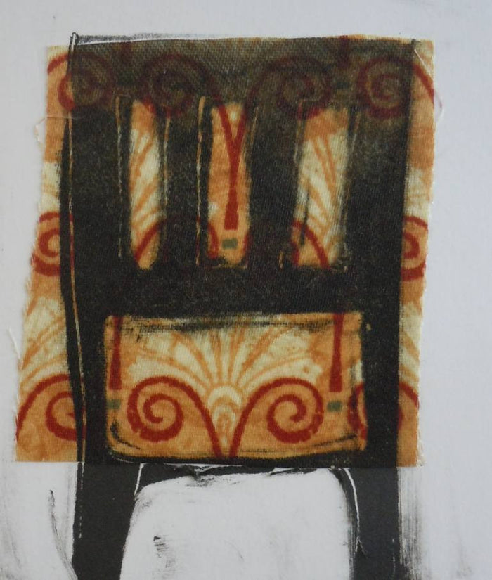Chair #96 monotype with chine colle nancy citrino The Print Center chairs and seats