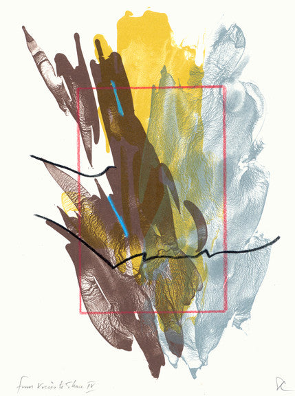 from Voices to Share IV Lithograph Ed Colker Color Base Abstraction brown blue yellow