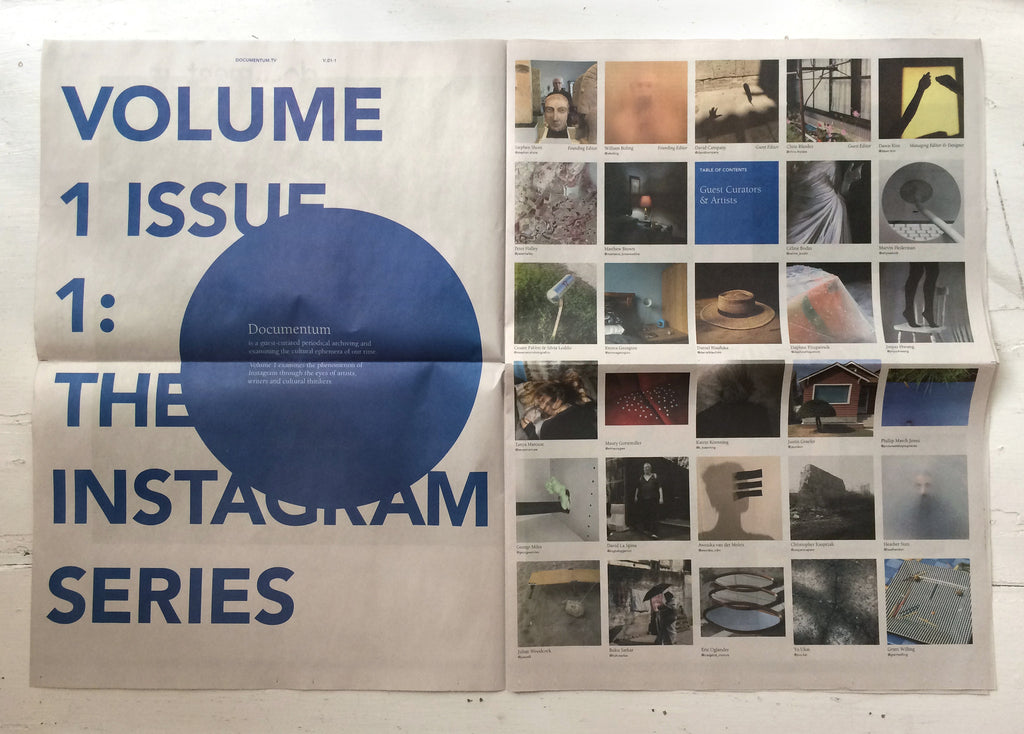 Documentum The Instagram Series social media Fall line press Book artist book the print center Stephen Shore, Tanya Marcuse, Chris Rhodes, David Campany