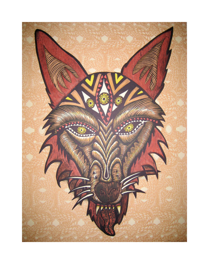 Psychic Wolf Dennis Mcnett wolf traditional tattoo style the print center illustration graphic novel