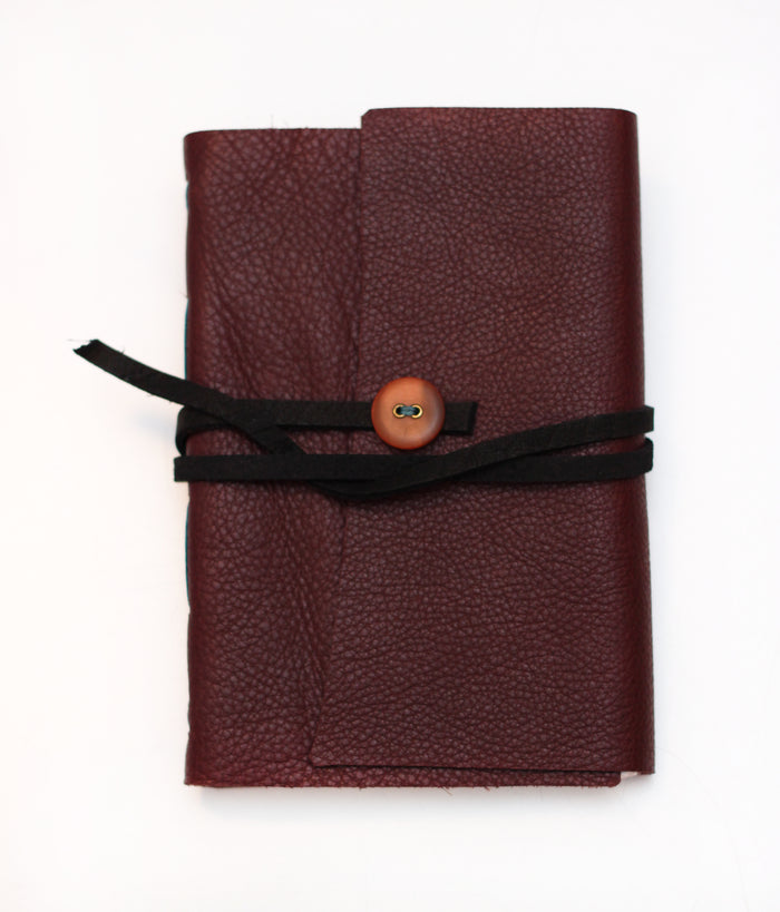 Leather Bound Notebook Marianne Dages book the print center gifts writing journal handmade