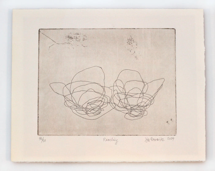 Raveling Jill Bonovitz Etching the print center doodles scribbles abstract