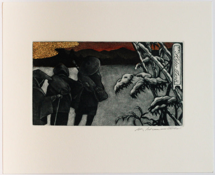 Blindness Females - Winter (Ex Libris) Mezzotint Katsunori Hamanishi Winter Travelling The Print Center