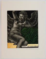 Leda and Swan No.1 (Ex Libris)