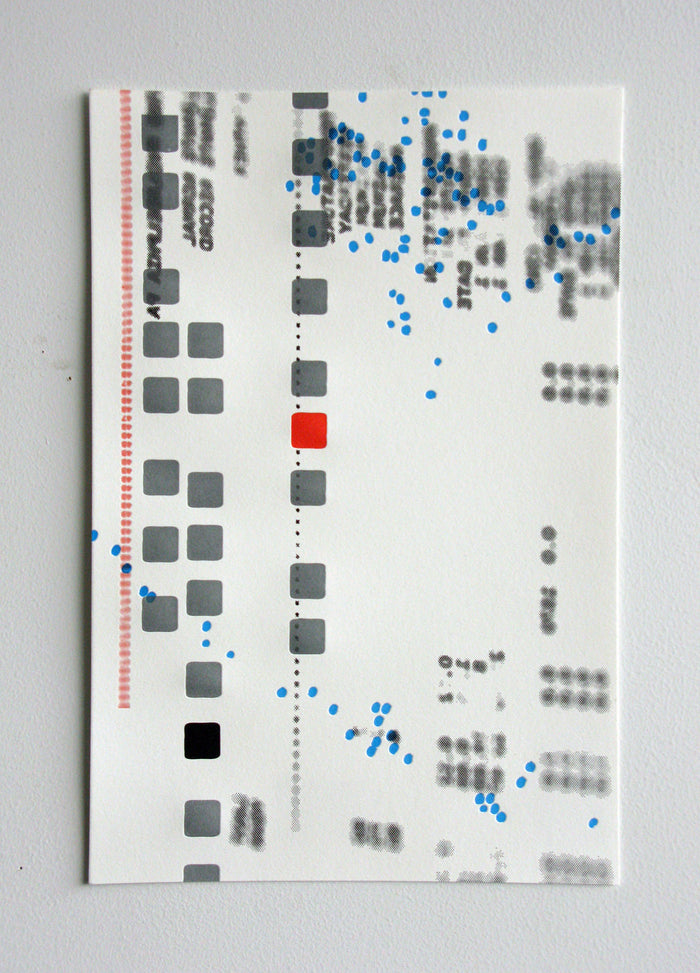 June Marianne Dages Amze Emmons the print center squares dots digital age futurism screen print