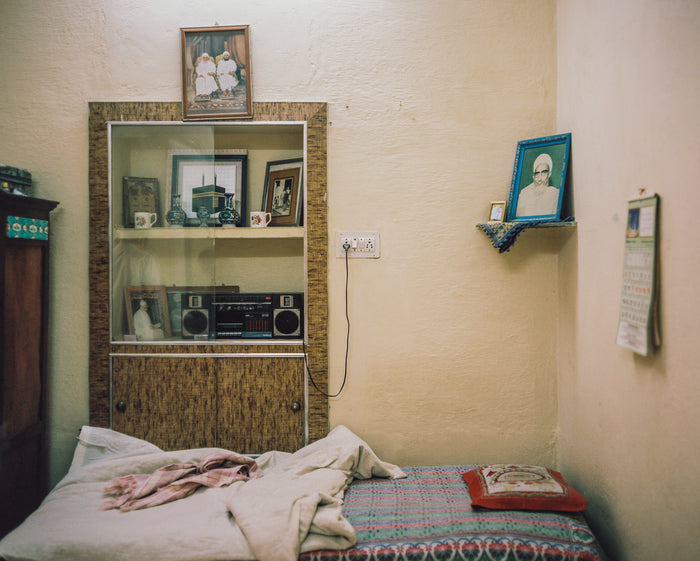 """Kamra"" by Saleem Ahmed. An Inkjet Print.  Color Photography, Home Life, Bed, City. the Print Center"