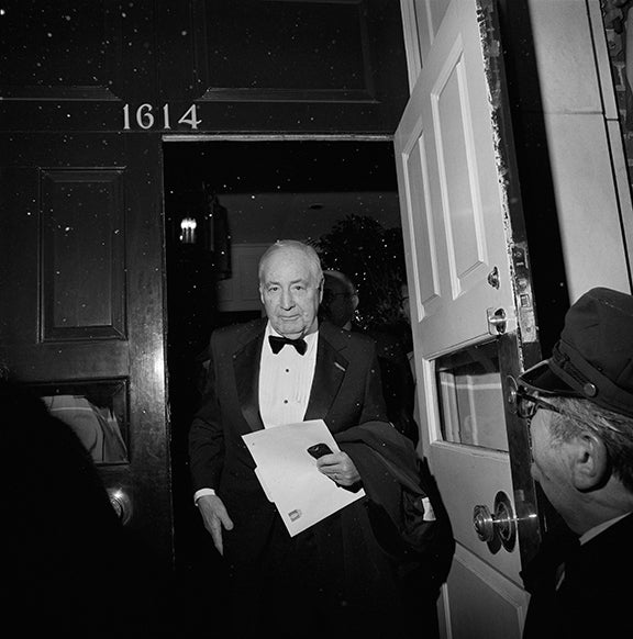 Untitled (Walter Annenberg exiting the Locust Club)