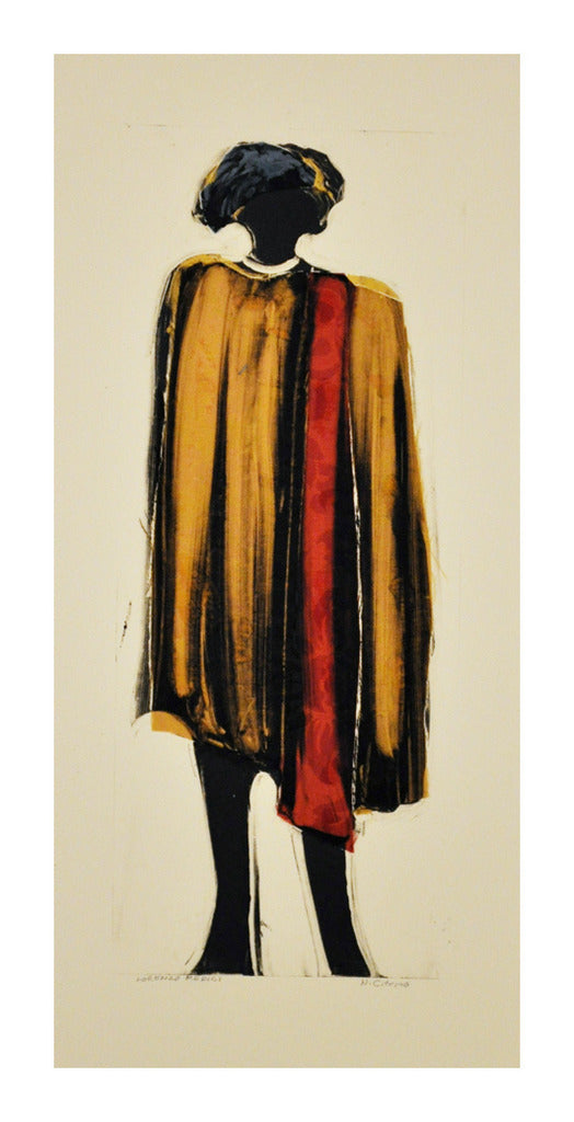 Lorenzo Medici Nancy Citrino Monotype the print center made in philadelphia yellow and red outfit