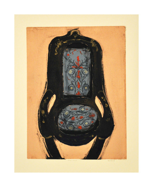 Chair #19 montoype Nanacy Citrino Made In Philadelphia chairs antiques orange and blue The Print Center