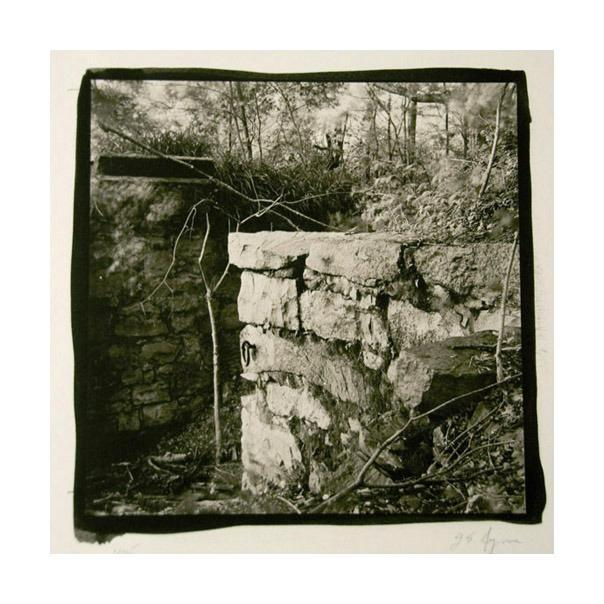 Old Lock, Lambertville Paltinum Palladium Print center James Syme rocks landscapes