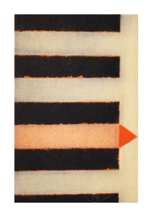 Entre Espacios Etching Perry Oliver Color Based Abstraction the print center stripes orange triangle