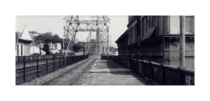Manayunk Train Station Paul Rider Geltain Silvver Print Train Tracks Black and white Photography made in Philadelphia the print center history