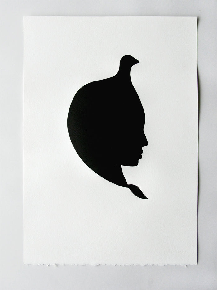 Scythian Marianne Dages Letterpress the print center silhouette person profile view portrait