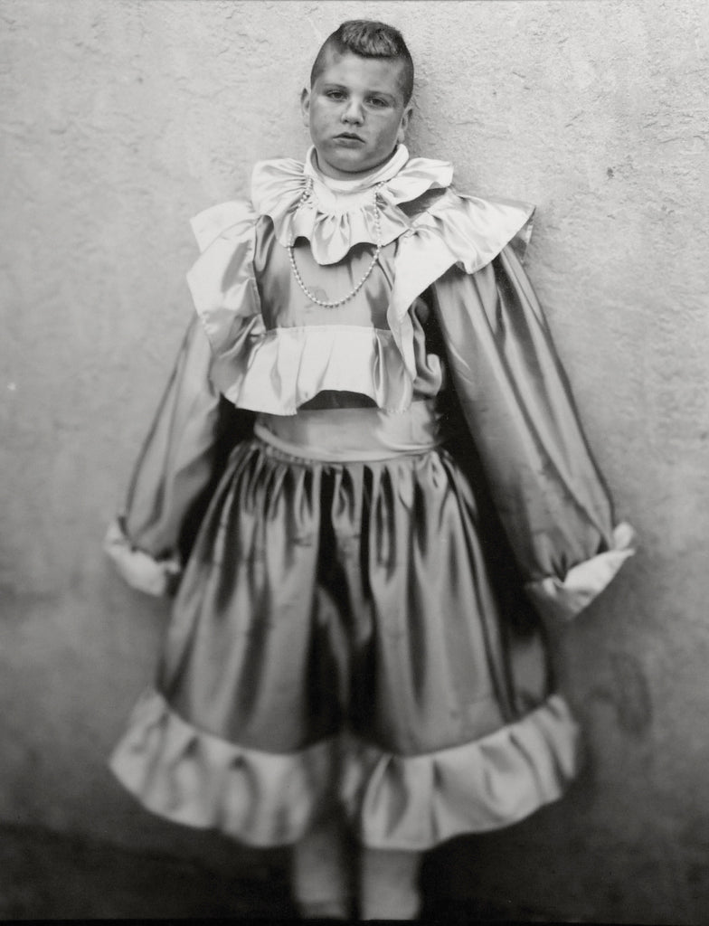 January 1 Andrea Modica Gender costuming dress up vintage black and white photography book the print center