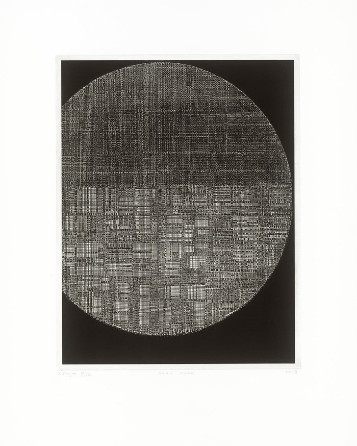 Dark Moon Victoria Burge space Intaglio circle the print center