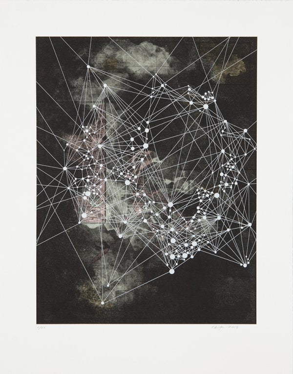 Island collagraph victoria burge stars constellations the print center detailed prints