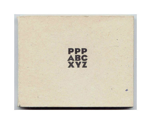 PPP ABC XYZ Purgatory Pie Press Letterpress the print center booklet book text deisgn typography