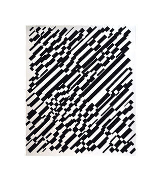 Broken Lines Andrew Jeffrey Wright silkscreen Made in Philadelphia Black and White Abstraction The Print Center