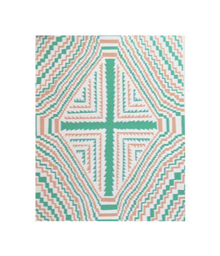 Green Cross No. 2 Andrew Jeffrey Wright silkscreen the print center acid art trippy movement color theory green and orange