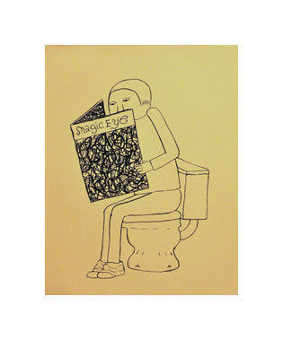 Magic Eye Andrew Jeffrey Wrigtht Silkscreen the print center marble notebook college rule notebook toilet reading