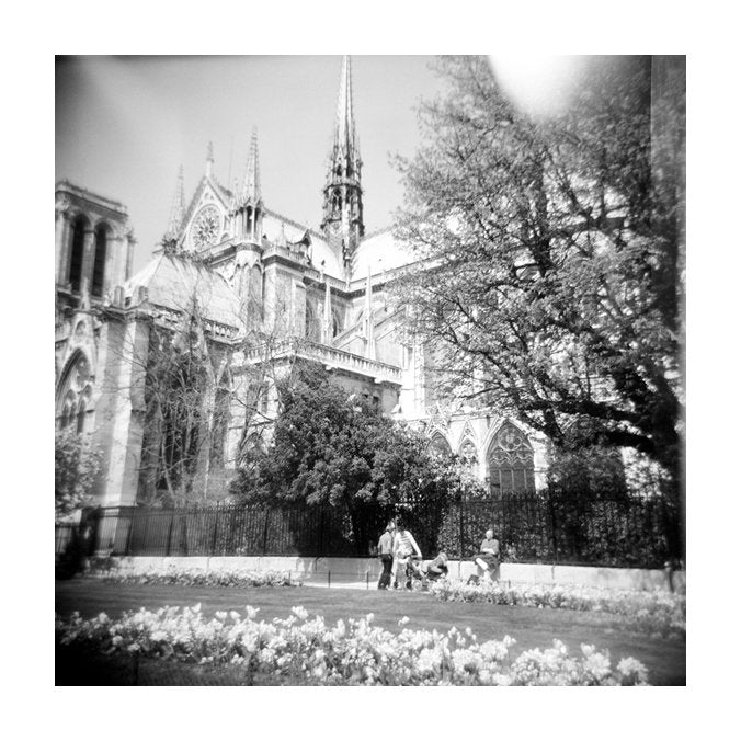 Notre Dame II church gelatin silver print made in philadelphia the print center churches