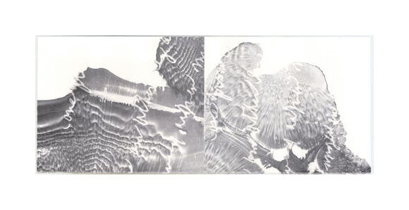 Breach Lithograph Hester Stinnett Black and White Abstraction Made in Philadelphia The Print Center Heather Stinnett