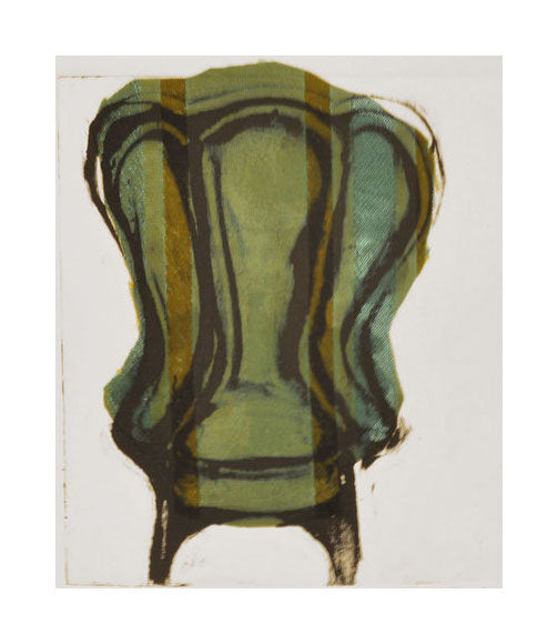 Chair #57 Nancy Citrino Monotype and tissu colle Made in Philadelphia chairs seats The Print Center