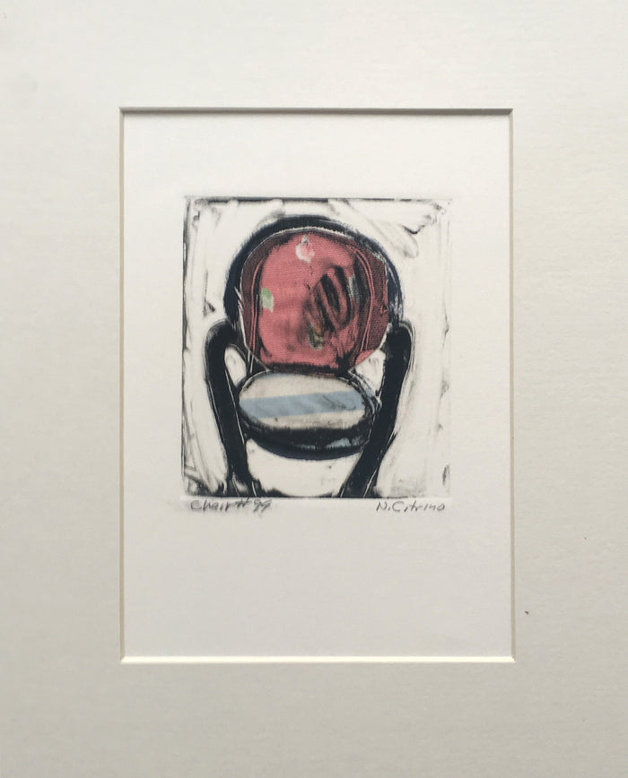 Chair #99 monotype with chine colle Nancy Citrino Made in Philadelphia The Print Center