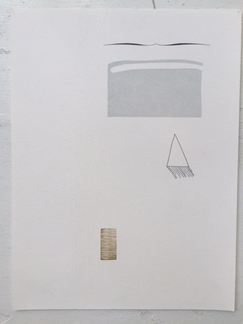 Impossible Objects No. 5 Marianne Dages letterpress simple lines and shapes calm triangle minimal prints the print center Philadelphia