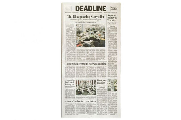 Deadline Will Steacy Book Newspaper text headlines the print center The Philadelphia Inquirer