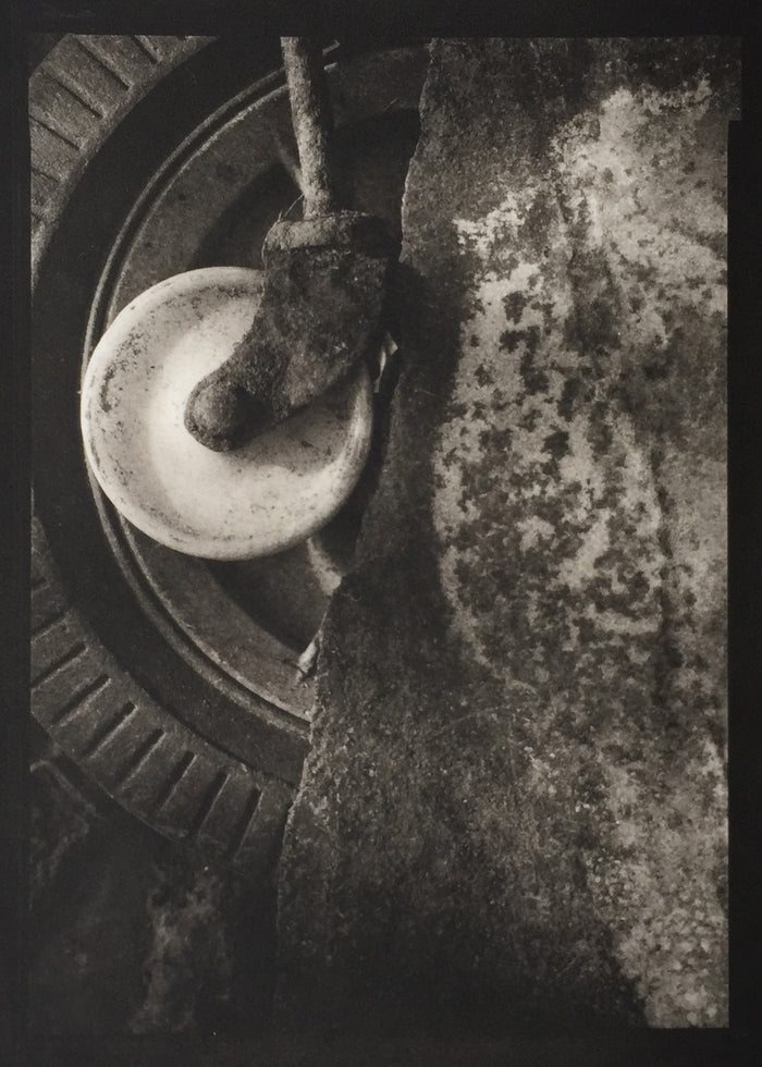 Savannah Still Life Paul Rider Platinum Palladium tire object still life made in Philadelphia photography