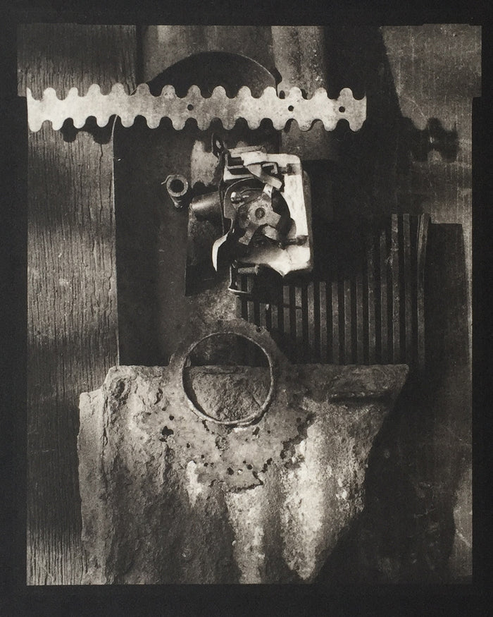 Savannah Still Life Metal Gears the print center made in Philadelphia Paul Rider Platinum Palladium printmaking
