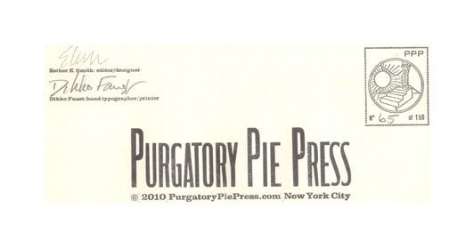 Enlongated Postcard Set Purgatory Pie Press Letterpress gifts prints