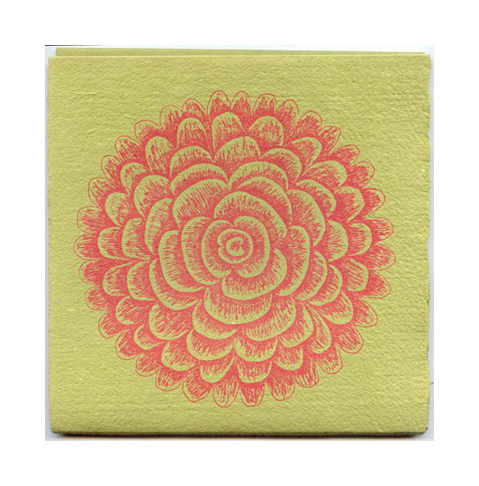 Fibonacci Flower Letterpress book Purgatory Pie Press the print center green pink flowers petals
