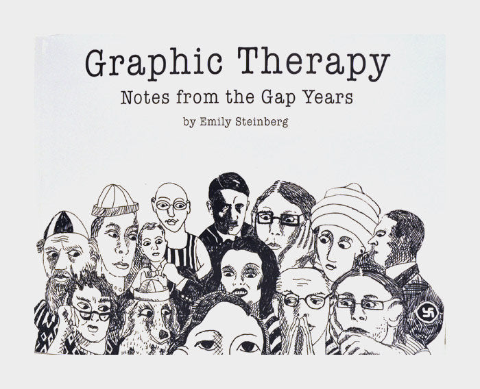 Graphic Therapy anxiety self portrait artist life neighbors friends experiences quirky emily steinberg book illustrator the print center made in Philadelphia