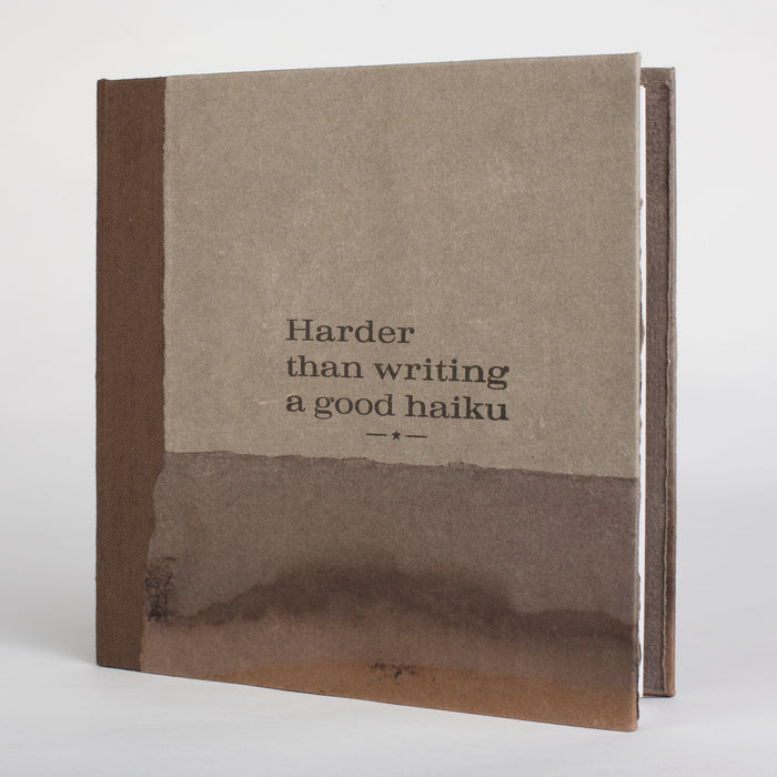 Harder Than Writing a Good Haiku Handmade artist book poetry photography screen printing Frank Hamrick people odd scenes quirky black and white