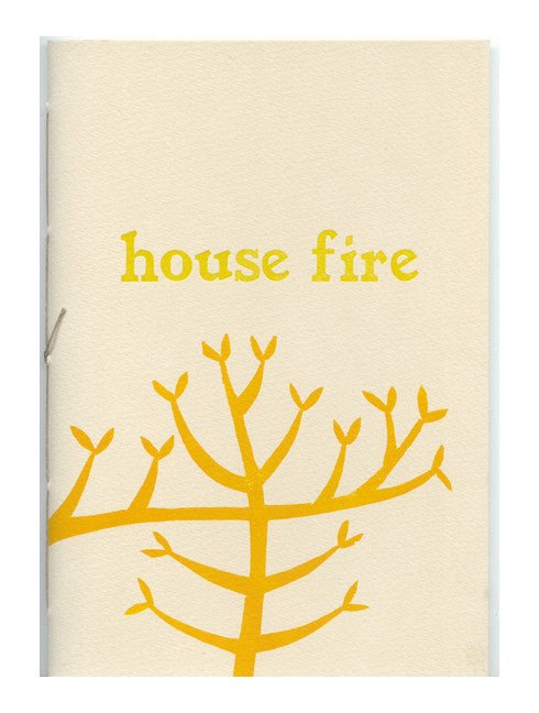 House Fire Katie Baldwin poetry book screen printing trees nature