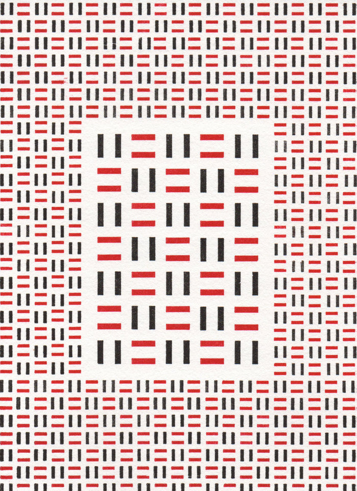 Magnified Basketweave Purgatory Pie Press Letter Press red and black optical illusion the print center Philadelphia