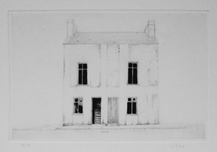 Clifden Dry Point Intaglio Lars Nyberg The Print Center black and white house and windows