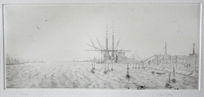 Dublin Bay Drypoint Intaglio Lars Nyberg the print center boats dock