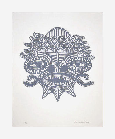 Mask II Bill Mcright silkscreen the print center patterns lines shapes made in Philadelphia