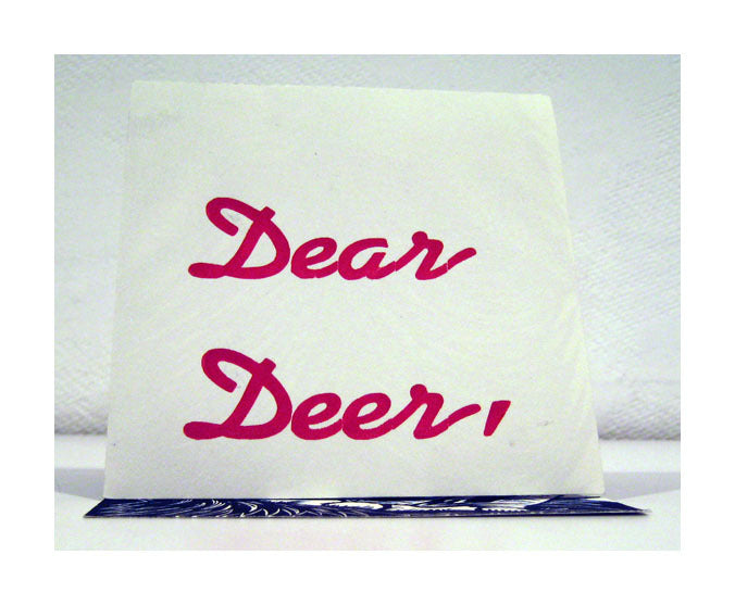 Dear Deer Linocut Dennis McNett the print center Linocut accordion artist's book with silkscreen cover animals
