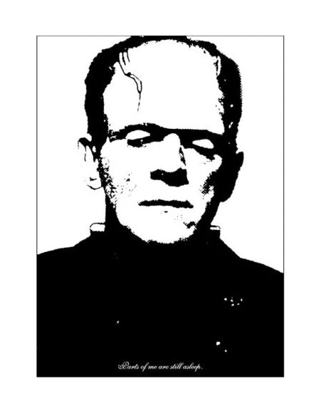 Parts of Me Are Still Asleep Silkscreen Eric McDade made in Philadelphia Frankenstein