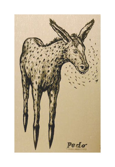 Pedo Lithograph Endi Poskovic the print center Philadelphia donkey drawing