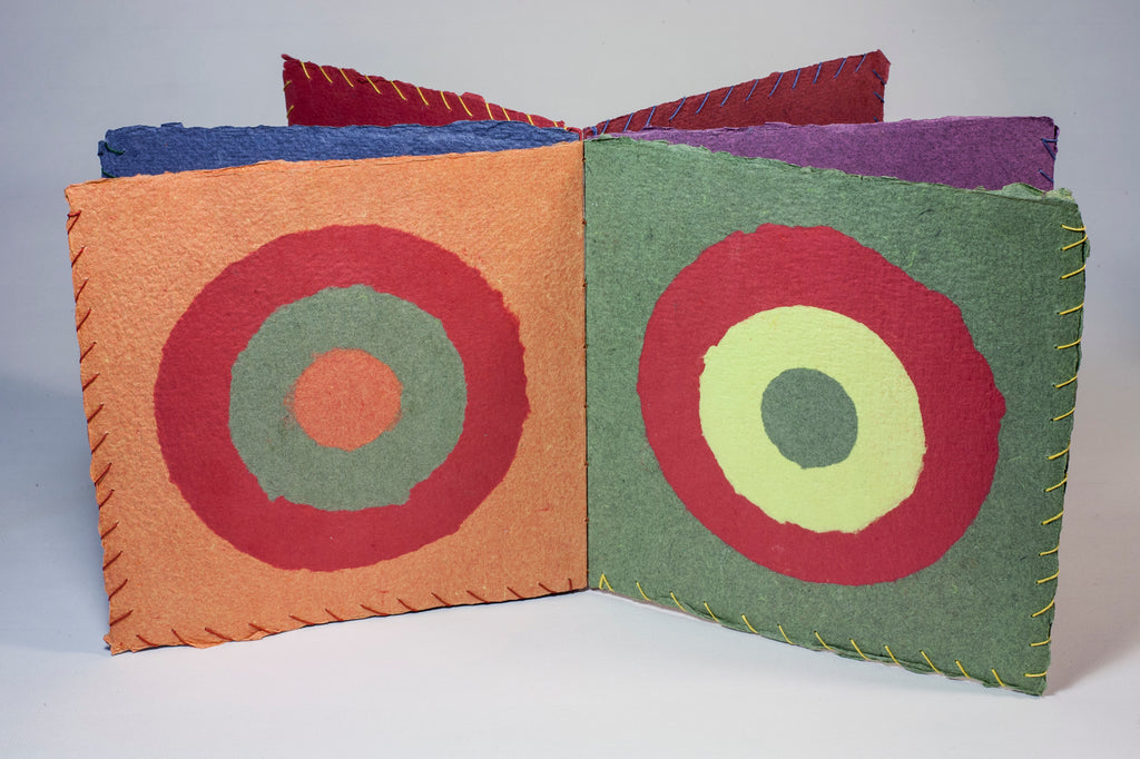 Pulp book handmade book and paper paper records 7 in Frank Hamrick concentric circles