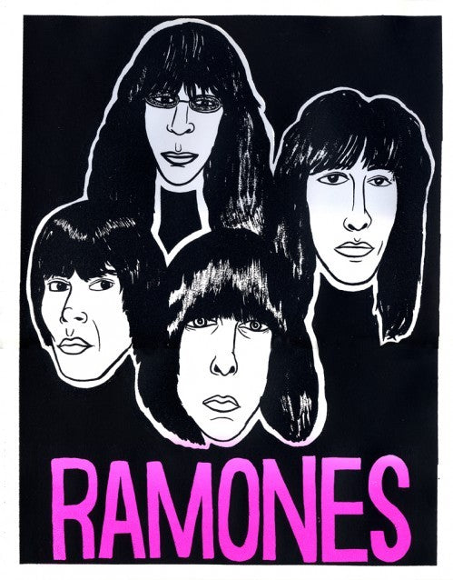 Ramones Thom Lessner Silkscreen the print center band poster